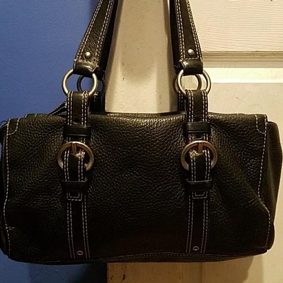 Coach Handbags - Coach Black Buckle Satchel